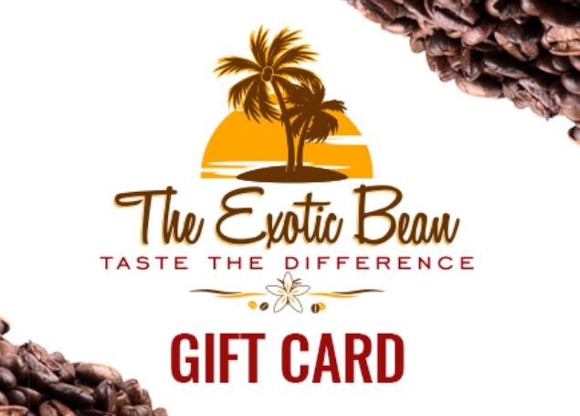 Exotic Bean Gifrt Card